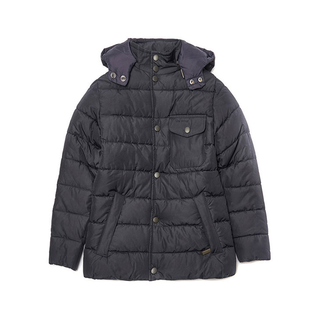 Barbour Boys COWL QUILTED JACKET Navy On Sale