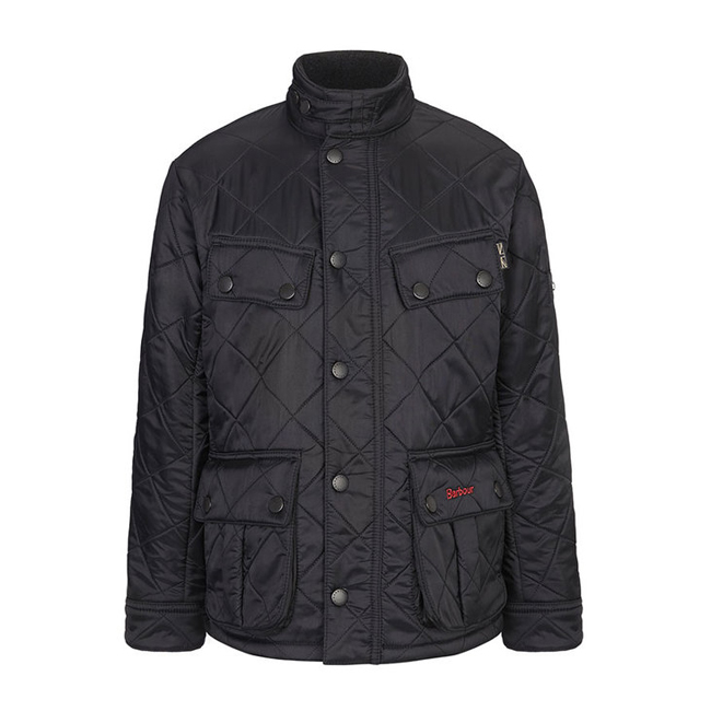 Barbour Boys ARIEL POLARQUILT QUILTED JACKET Black  On Sale
