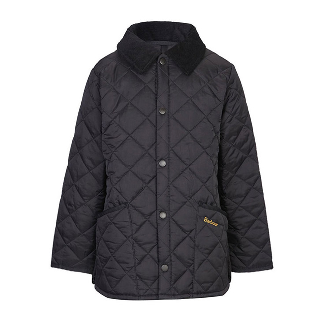 Barbour Boys LIDDESDALE QUILTED JACKET Black On Sale