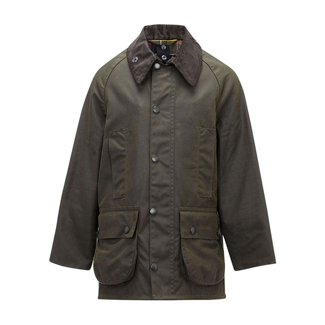 Barbour Boys CLASSIC BEAUFORT WAX JACKET Olive On Sale