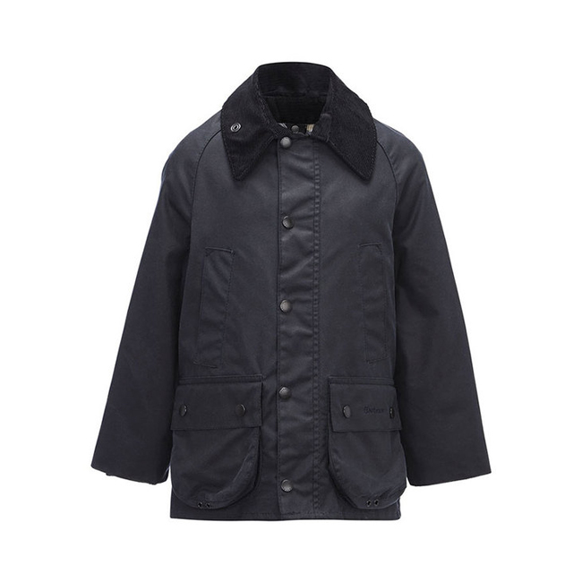 Barbour Boys CLASSIC BEDALE WAX JACKET Navy On Sale