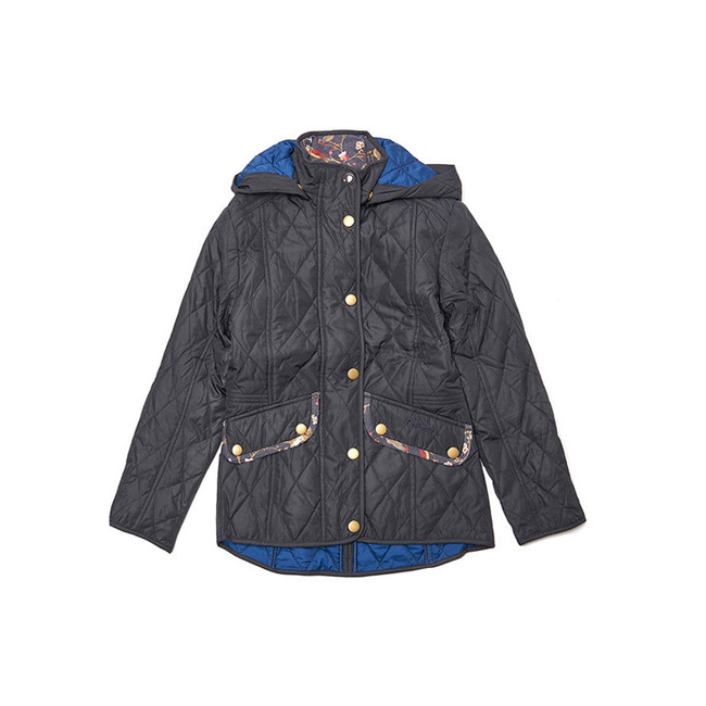 Barbour Girls IMPELLER QUILTED JACKET Navy On Sale