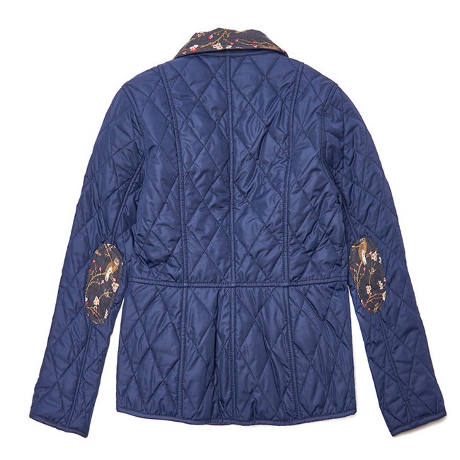 Barbour Girls PANSY QUILTED JACKET Royal Blue On Sale