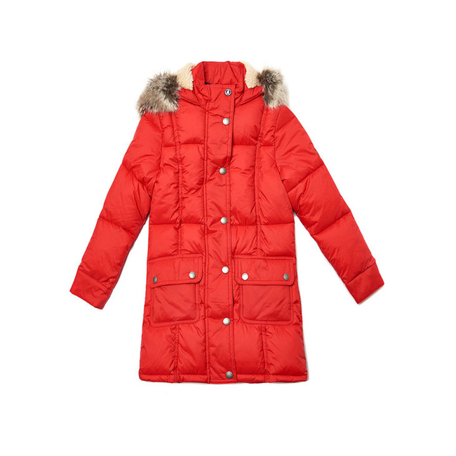 Barbour Girls ICEFIELD QUILTED JACKET Lighthouse Red On Sale