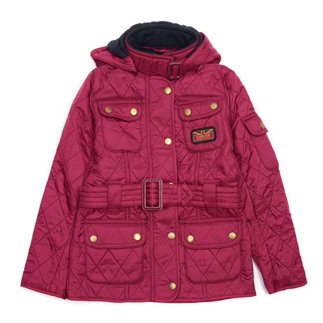 Barbour Girls B.INTL VIPER QUILTED JACKET Juniper On Sale