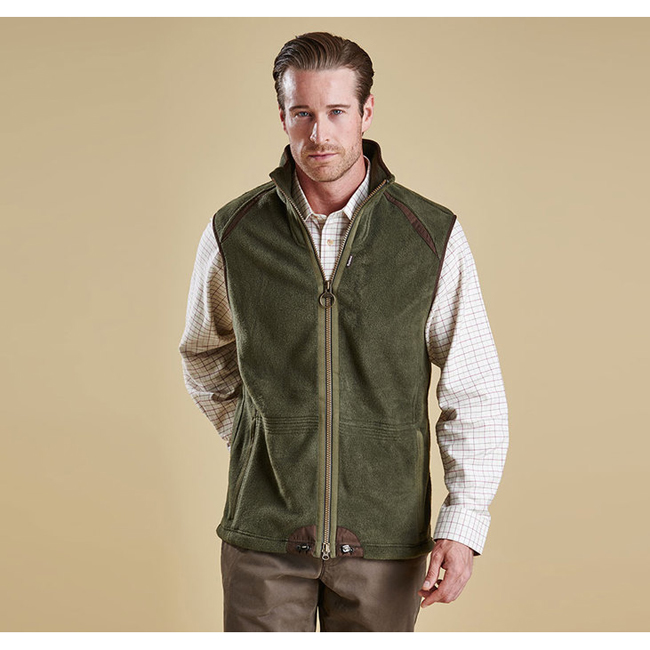 Barbour Men LANGDALE GILET Olive On Sale