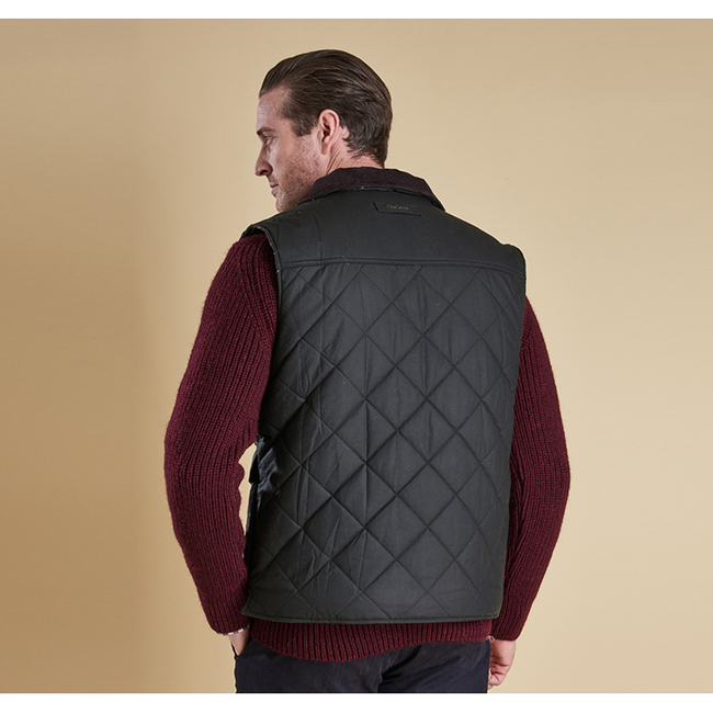 Barbour Men BOXLEY QUILTED GILET Olive On Sale