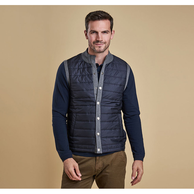 Barbour Men ESSENTIAL GILET Mid Grey On Sale