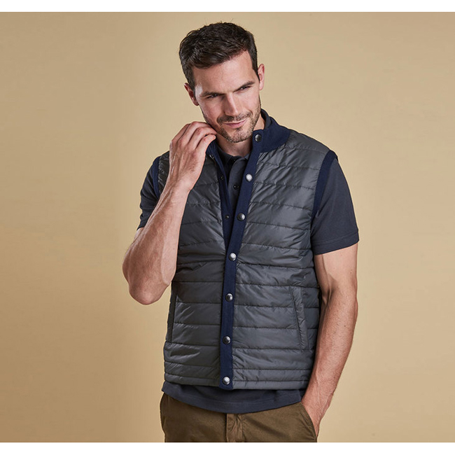Barbour Men ESSENTIAL GILET Navy On Sale