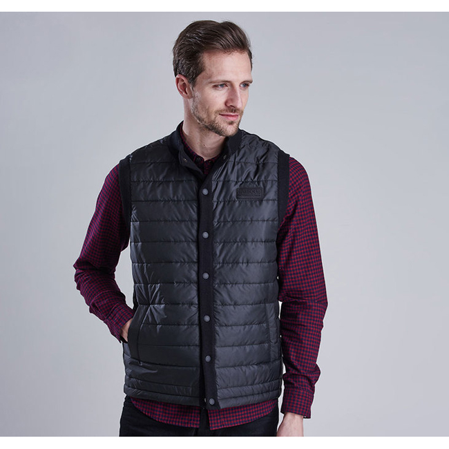 Barbour Men B.INTL BAFFLE GILET Black On Sale