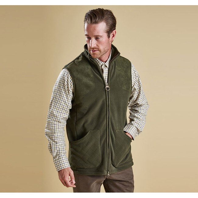 Barbour Men DUNMOOR GILET Olive On Sale