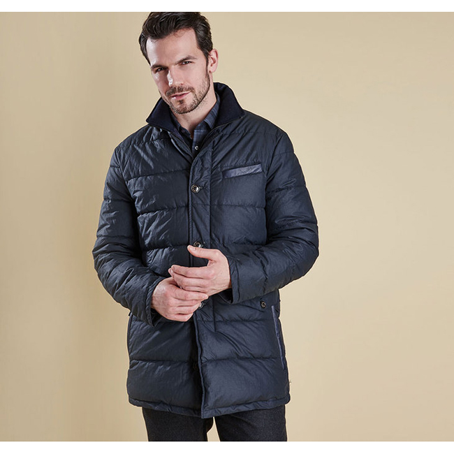 Barbour Men OPERATIVE QUILTED JACKET Navy On Sale