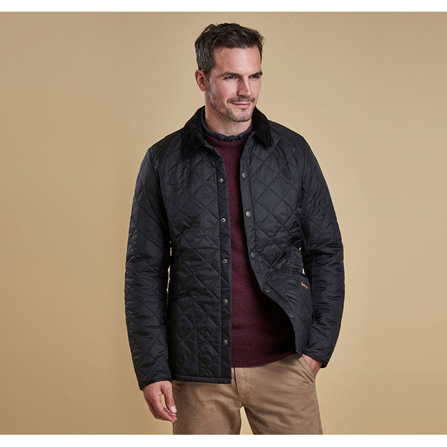 Barbour Men HERITAGE LIDDESDALE QUILTED JACKET Black On Sale