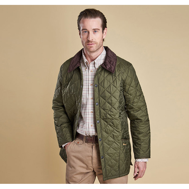 Barbour Men LIDDESDALE QUILTED JACKET Olive On Sale