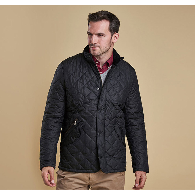 Barbour Men CHELSEA SPORTSQUILT JACKET Black On Sale