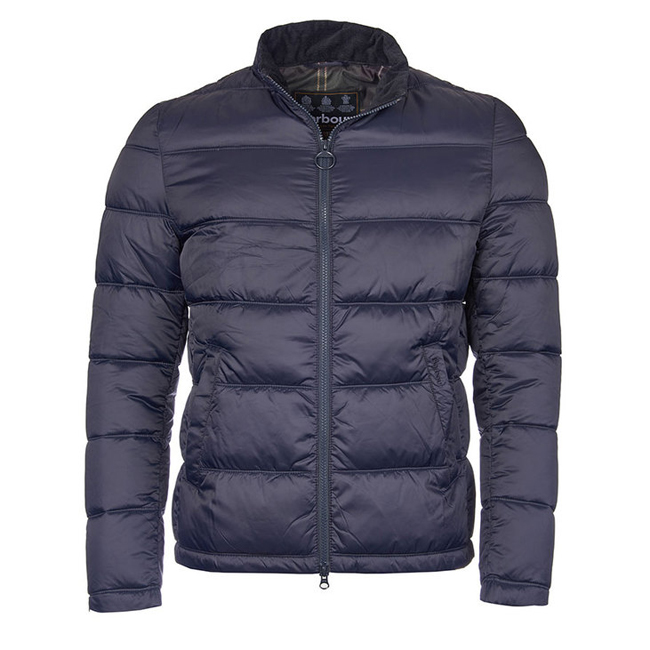 Barbour Men LEVEN QUILTED JACKET Navy On Sale