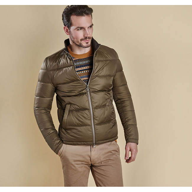 Barbour Men LEVEN QUILTED JACKET Olive On Sale