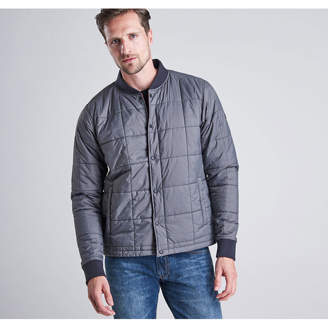 Barbour Men B.INTL WORN JACKET Grey On Sale