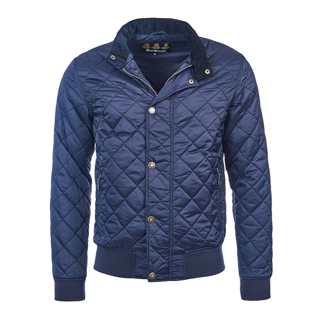 Barbour Men MOSS QUILTED JACKET Navy On Sale