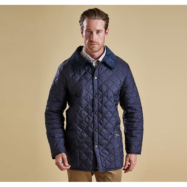 Barbour Men LIDDESDALE QUILTED JACKET Navy On Sale