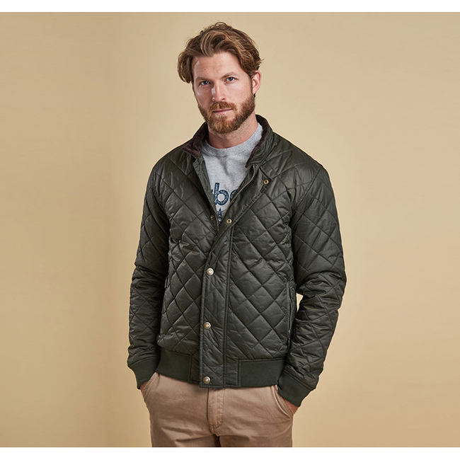 Barbour Men MOSS QUILTED JACKET Sage On Sale
