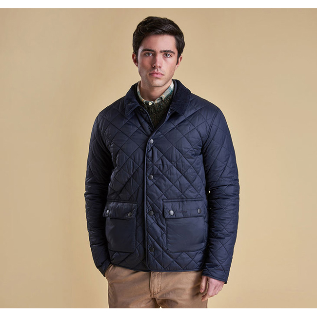 Barbour Men ANWOTH QUILTED JACKET Navy On Sale