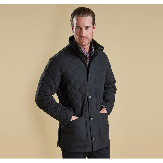 Barbour Men HAMPTON QUILTED JACKET Black On Sale