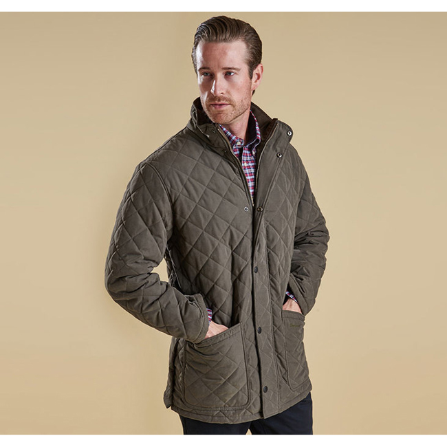 Barbour Men HAMPTON QUILTED JACKET Forest Green On Sale