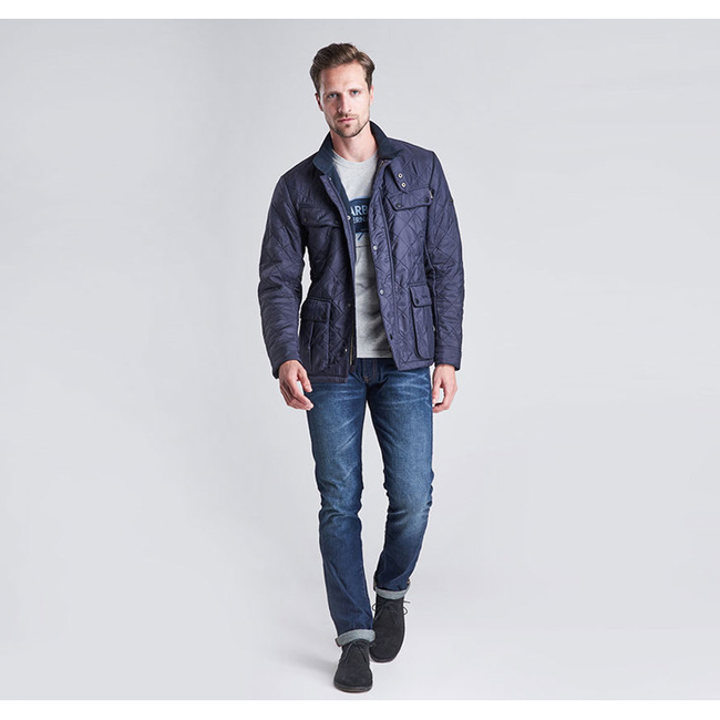 Barbour Men B.INTL ARIEL POLARQUILT JACKET Navy On Sale