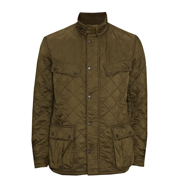 Barbour Men B.INTL ARIEL POLARQUILT JACKET Olive On Sale