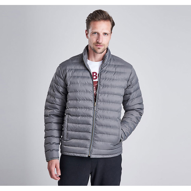 Barbour Men B.INTL IMPELLER QUILTED JACKET Grey On Sale
