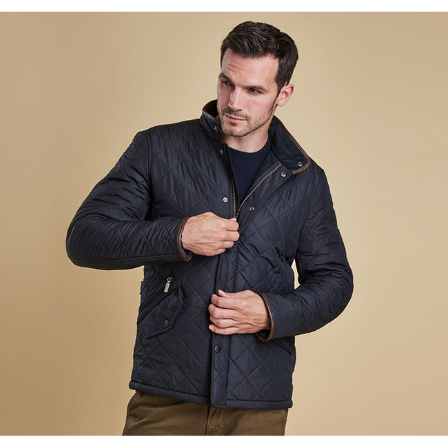Barbour Men POWELL QUILTED JACKET Navy On Sale