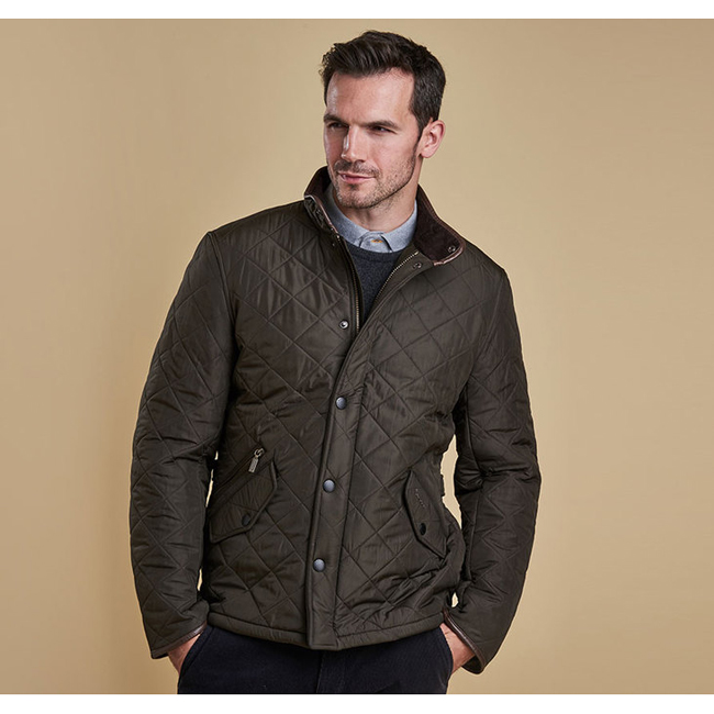 Barbour Men POWELL QUILTED JACKET Olive On Sale