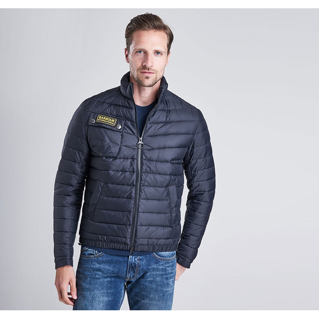 Barbour Men B.INTL CHAIN BAFFLE QUILTED JACKET Black On Sale