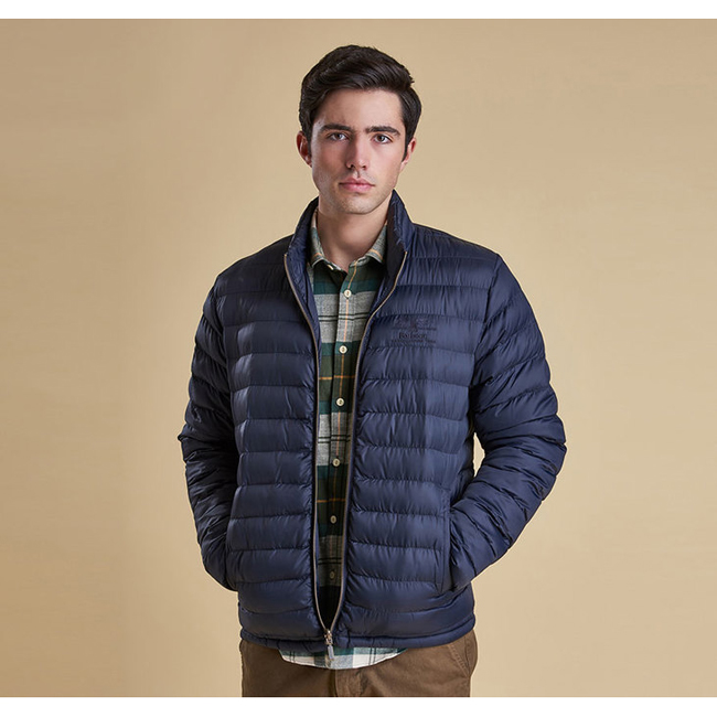 Barbour Men TEMPLAND QUILTED JACKET Navy On Sale