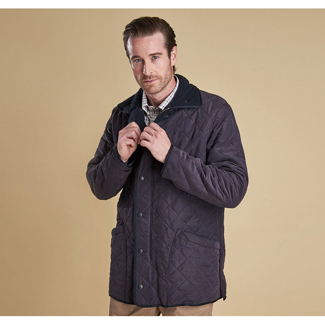 Barbour Men MICROFIBRE POLARQUILT JACKET Navy On Sale