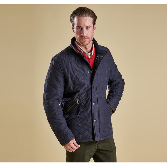 Barbour Men BOWDEN QUILTED JACKET Navy On Sale