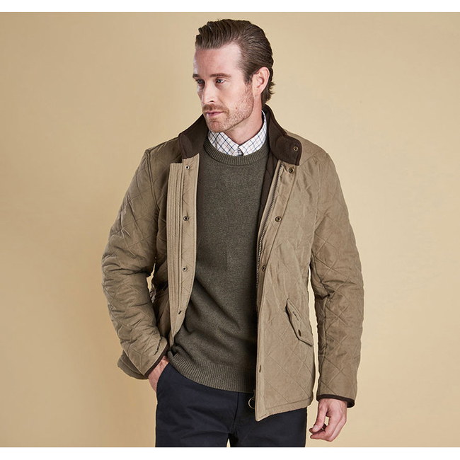Barbour Men BOWDEN QUILTED JACKET Light Olive On Sale