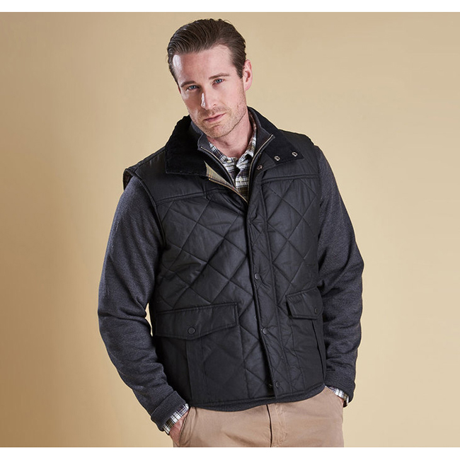Barbour Men BOXLEY QUILTED GILET Black On Sale