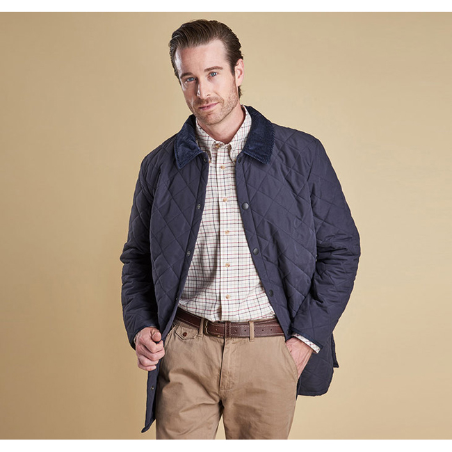 Barbour Men ESKDALE QUILTED JACKET Navy On Sale