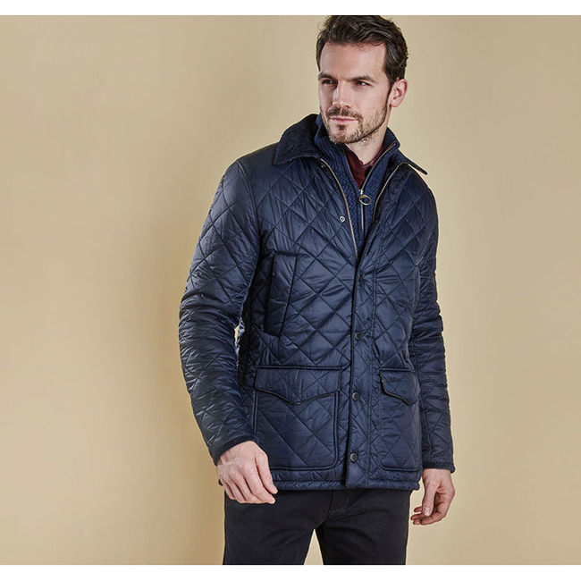 Barbour Men CANTERBURY QUILTED JACKET Navy On Sale
