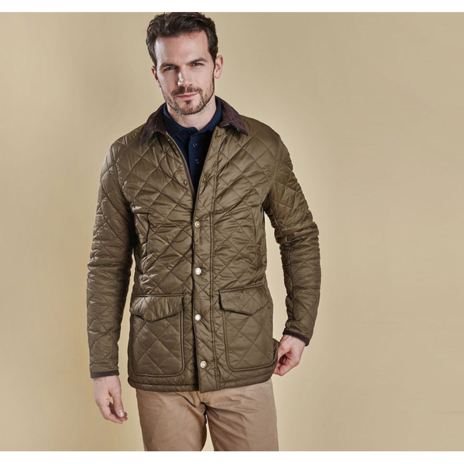 Barbour Men CANTERBURY QUILTED JACKET Olive On Sale
