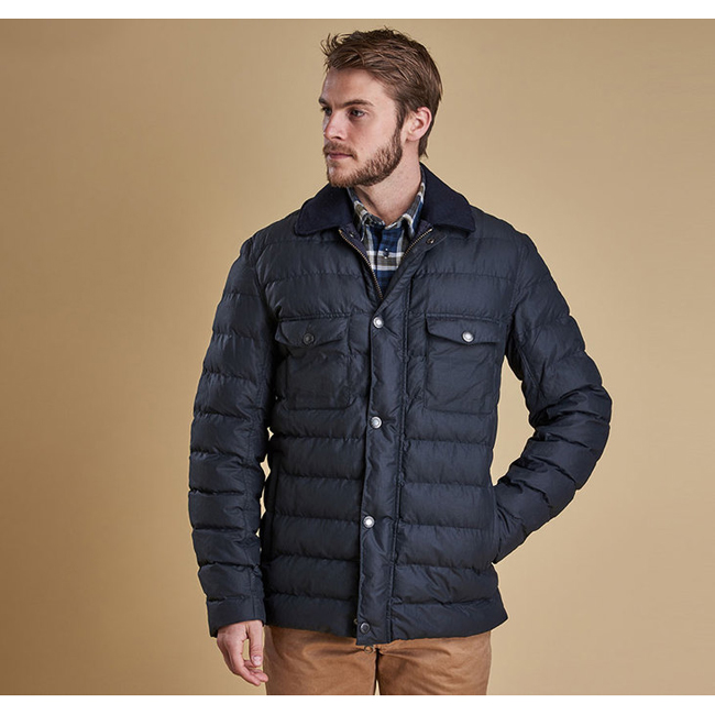Barbour Men BENTHOS QUILTED JACKET Navy On Sale