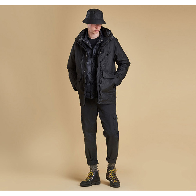 Barbour Men SIX BELL QUILTED JACKET Black On Sale