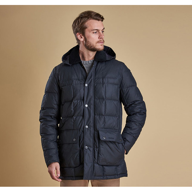 Barbour Men DUNNAGE QUILTED JACKET Navy On Sale