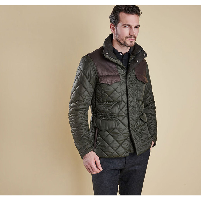 Barbour Men ESMISSARY QUILTED JACKET Sage On Sale