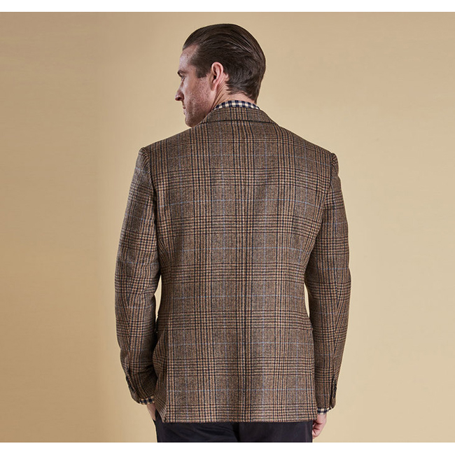 Barbour Men PORTLAND TAILORED JACKET Brown Check On Sale