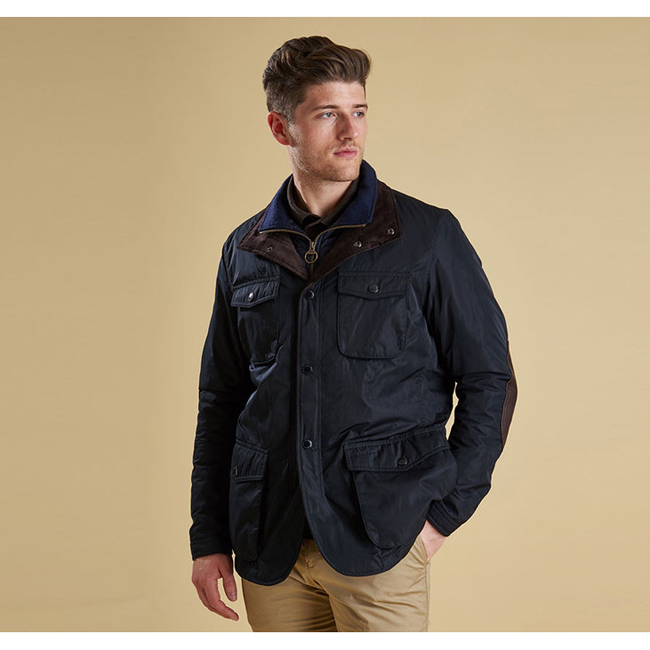 Barbour Men PARWICH WATERPROOF JACKET Navy On Sale