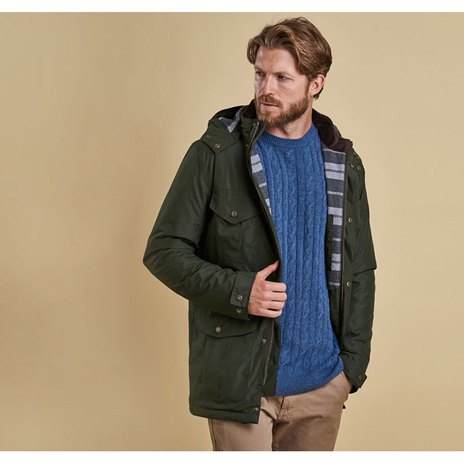 Barbour Men MARSDEN WATERPROOF BREATHABLE JACKET Sage On Sale
