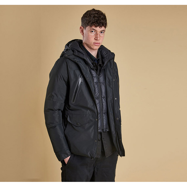 Barbour Men FOUR BELL WATERPROOF JACKET Black  On Sale